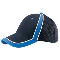 BRUSHED CANVAS SPORTS MESH CAP, Black Royal