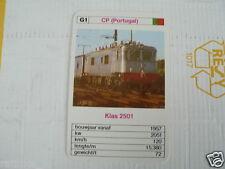24 EK LOKS G1 CP PORTUGAL KLAS 2501 TRAIN TREIN KWARTET KAART,