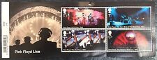 Royal Mail Pink Floyd Mini Sheet with Barcode, Mint Stamps (4) No.528, MINI PF