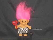 "4"" RUSS TROLL PINK HAIR PRISONER W/SIGN SAYING ""PRISONER OF LOVE"" CUTE! T701"