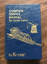 Complete Service Manual For Lionel Trains By K-Line Book