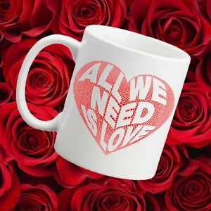 ALL WE NEED IS LOVE MUG FREE PERSONALISED MESSAGE!!