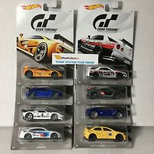 White Card Gran Turismo 8 Car Set * 2018 Hot Wheels Lancer, BMW, McLaren