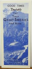1956 Great Smokies Tennessee Smoky Skylift Gatlinburg vintage travel brochure b