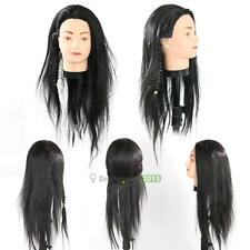 Practice Train Head Human Hair Styling Hairdressing Mannequin Doll Long Hair