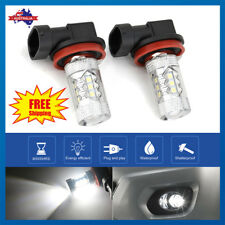 2 X H8/H9/H11 80W 16 LED Fog Light Driving Globe Bulb Projector Headlight 6000K