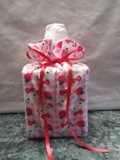 Hello Kitty Strawberry checked Cotton Fabric Handmade square Tissue Box Cover