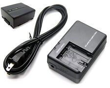 Battery + Charger for Panasonic PV-GS36 PV-GS39 PV-GS50 PV-GS55 PV-GS59 PV-GS65