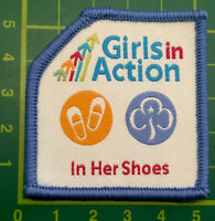 Girls In Action In Her Shoes Badge Patch Girlguiding Guide Sew On Camp Blanket