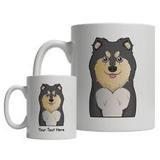 Finnish Lapphund Dog Cartoon Mug - Personalized Text Coffee Tea Cup