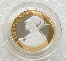2015 Great Britain Britannia Definitive £2 Two Pound Silver Proof Coin Box Coa