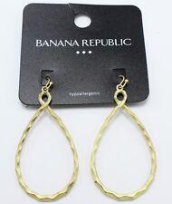 Earrings from Banana Republic nwt #Bre23 New Teardrop Shape Matte Gold Drop