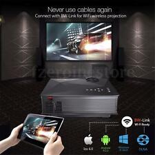 Hizek MP1 Portable Wireless Video/VGA Led Projector HD 1080P Home Theater Cinema