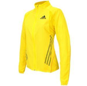 Adidas Adizero Damen Jacke Trainingsjacke Running Laufjacke Sportjacke gelb