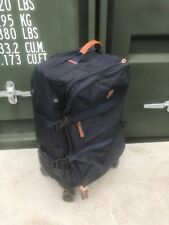 """Brics 23"""" Expandable Soft 4 Wheel Spinner Cabin Carry on Suitcase Luggage - Blue"""