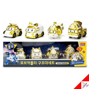 Robocar Poli Rescue Team Die-Casting Gold Edition/10th Anniversary Limited ver.