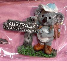 1 X Souvenir 3D Koala Australia It's Bloody Long Way Fridge Magnet Sign Post