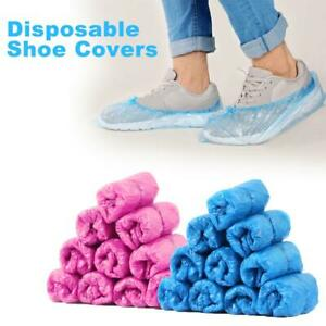 100pcs/Pack Disposable Plastic Over Shoes Shoe Boot Covers Carpet Protector Home