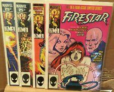 Marvel Comics, Firestar #1-4 Complete 1986, VF/NM, X-Men/New Mutants/White Queen
