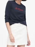 NWT Banana Republic $79.50 Washable Merino Extra Fine Wool Raglan Sweater Size S