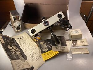 Vintage Bell & Howell Sun Dial 319 8mm Movie Camera W/ Box, Manuals & More