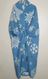 Biederlack Cuddle Wrap Snowflake Stadium Blanket Wearable Throw Cover Zip Snap