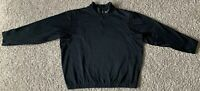 Nike Golf Therma Fit 1/4 zip long sleeve pullover Jacket Men's Size XL Black EUC