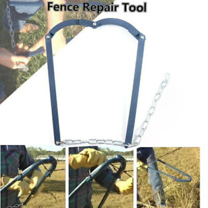 Chain Fence Strainer Tool Plain Barbed Wire Strainer Fixer Tensioner Repair Tool