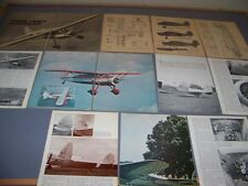 VINTAGE..FAIRCHILD F24 & LOCKHEED 12A..CUTAWAY/3-VIEWS/SPECS..RARE! (340F)