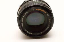 Minolta MC Rokkor-X 50mm 1.7 PF Lens