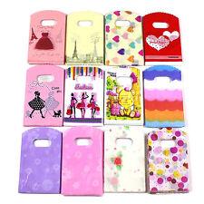50pc Wholesale Lots Colorful Pattern Plastic Gift Bag Shopping Bag 15x9cm Random