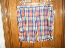 Jack Nicklaus Red Plaid Golf Shorts - Size 38 Waist