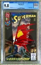 Superman #75 CGC 9.8 Death Of Superman 1st Printing!! With Pin!!