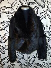 H&M Black Faux Fur Jacket Size EU 38  - UK 8 / 10