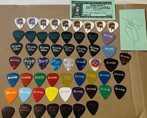 ANTHRAX -JOEY BELLADONNA 2011 TOUR -58 GUITAR PICKS- SIGNED STUB & Day of Week
