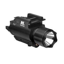 NcStar Flashlight Laser Combo Red Picatinny Quad Rail Pistol Tactical Light 200