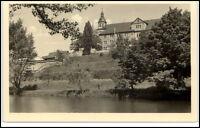 Schmalkalden Thüringen DDR Postkarte ~1955 Schloß Wilhelmsburg vom Fluß aus