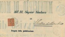 ITALIA REGNO: MANIFESTO CIRCOLARE annullo numerale 2983 MONTEFORTE D'ALPONE 1885