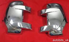 CHROME MIRROR COVERS SET FOR RENAULT MASTER 3 VAUXHALL MOVANO NISSAN NV400 2010+