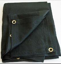 12' x 12' Black Mesh Screen Shade Tarp with grommets * Free Shipping *