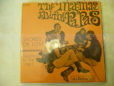 "MAMAS&PAPAS""WORDS OF LOVE-disco 45 giri RCA Italy 1967"" VERY RARE"