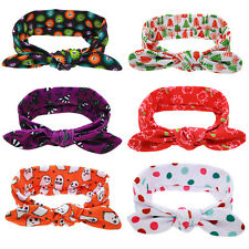 Christmas Halloween Hairband Baby Bowknot Headband Kids Turban Children Headwrap