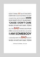 Ed Sheeran & Justin Bieber - I Don't Care - Colour Print Poster Art