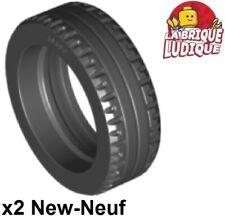 x 12mm Black Tire 21mm D LEGO x 4 87697  NEUF