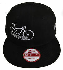NEW ERA 9FIFTY STRADALLI PRO CYCLING TEAM SNAPBACK BLACK HAT BIKE LOGO