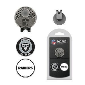 NFL Las Vegas Raiders Golf Cap Clip and 2 Ball Markers Set Hat Enamel