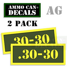 30-30 Ammo Can Box Decal Sticker bullet ARMY Gun safety Hunting 2 pack AG