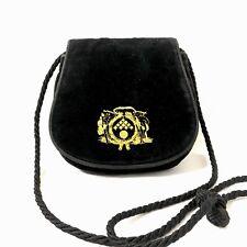 8e402c8b3a80 Bottega Veneta Small Handbag Purse Black Velvet Velour