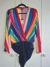 Primark Multi coloured wrap bodysuit size 14 new