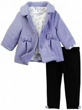 Little Me Lilac Bow Baby Girl Jacket Set with shirt and Leggings 3 Pieces